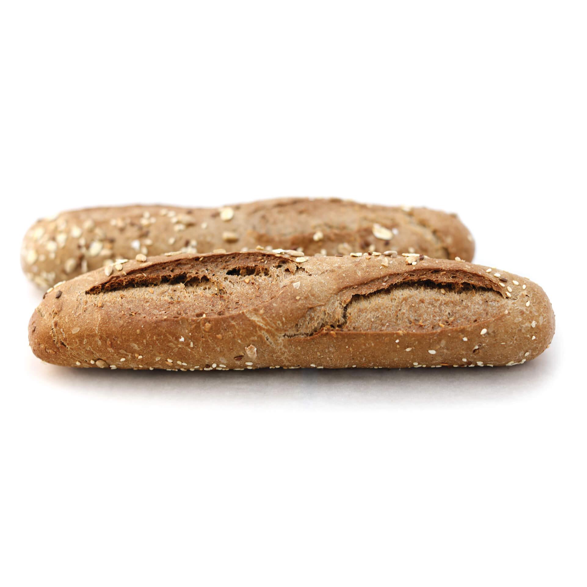 Mittelmäßige Mehrkorn Baguette